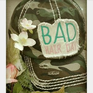 🌟Last one🌟 Camo Bad Hair Day Distressed Hat